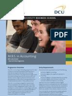 DCU MBS in Accounting Factsheet