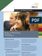 DCU MBS in Marketing Factsheet
