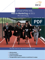 DCU MBS in Marketing Poster