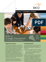 DCU MBS Strategic Procurement