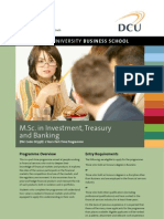 DCU MSc in Investment Treasury and Banking