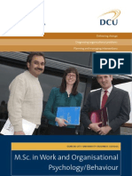 DCU MSc in Work and Organisational Psychology Behaviour