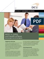 MBS in Safety and Health at Work