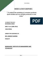 A Dissertation Report