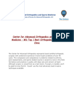 Articles of Interest Center for Advanced Orthopedics
