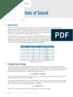 Fundamentals of Sound