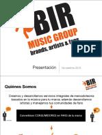 Presentación BIR Music Group
