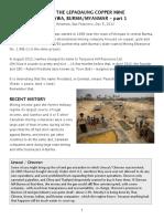 Monywa Copper Mine - part 1