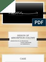 Design of Absorption Column