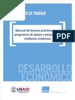 MANUAL de Buenas Practicas Para Programas de Apoyos a PYMES
