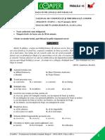 Subiect Si Barem LimbaRomana EtapaI ClasaIII 14-15
