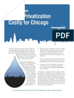 Water Privatization Costly for Chicago