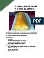Bizcocho Enrollado de Crema y Nata (Brazo Gitano)
