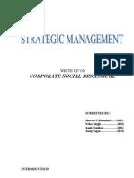 Corporate Social Disclosure