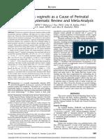 Trichomonas Vaginalis as a Cause of Perinatal.5