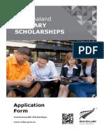 New Zealand Tertiary Scholarships Application Form