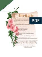 Invitatie Ghidici - Ziua Scolii Si Simpozion