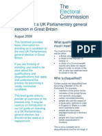 UK Parliamentary General Election Nominations Factsheet 2010