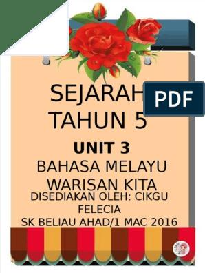 Sejarah Tahun 5 Bahasa Melayu