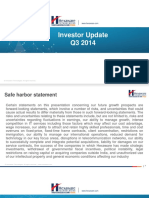 Hexaware Investor Update 05-11-2014