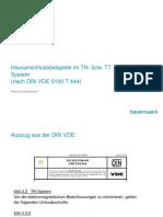 Hausanschlussbeispiele TN TT-System