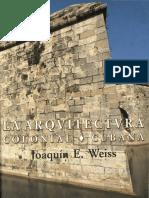 Weiss. La Arquitectura Colonial Cubana. 2002