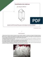 Classification des minéraux