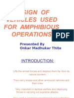 DESIGN  OF VEHICLES  USED FOR  AMPHIBIOUS OPERATIONS.ppt