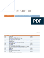 Use Case List