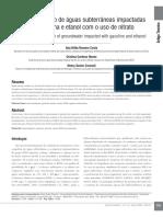 Biorremediação Por Gasolina e Etanol