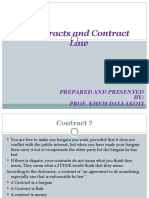 Contract and Contract Law
