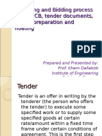 Tendering and Bidding Process