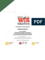 Project Wet Saskatchewan Workshop