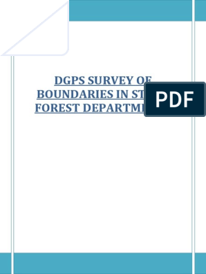 DGPS SURVEY OF BOUNDARIES IN STATE FOREST DEPARTMENTS