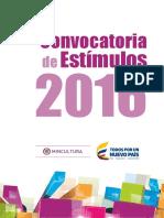 0. Convocatoria de Estímulos 2016