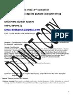 Mb0045 Financial Management