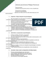 Dez Novas Competências Para Ensinar Philippe Perrenoud