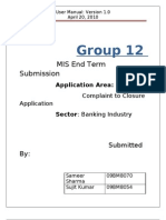 Group 12 _User Manual_Banking-Complaint to Closure System