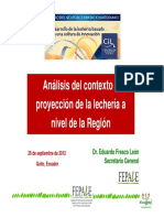Análisis del contexto y proyección de la lechería