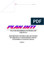 Plan INTI Tiquipaya
