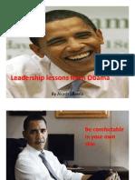 Obama Leadership Lessons