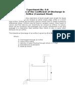 Experiment in Fluid Mechanics
