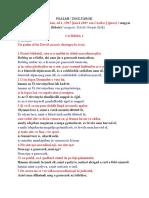 Psalmi - in romaneste si in maghiara