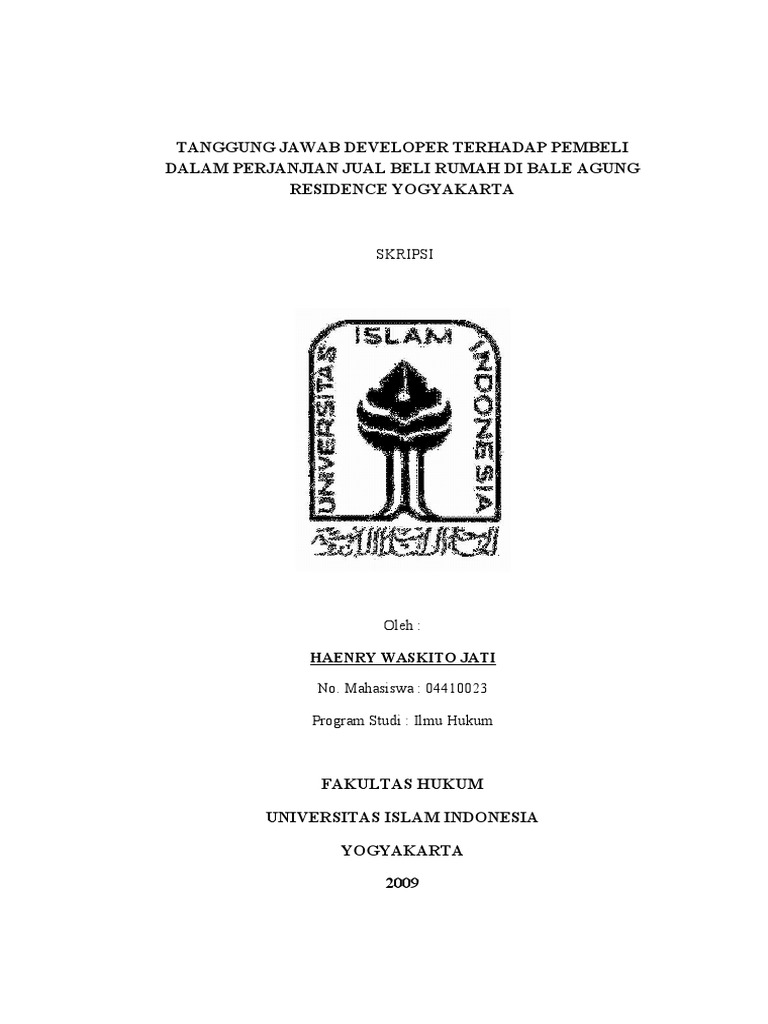 Skripsi Fakultas Hukum Uii Pejuang Skripsi
