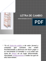 Letra de Cambio y Pagare