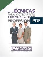 Tecnicas Motivar a Tu Personal a Verse Profesional - NVO