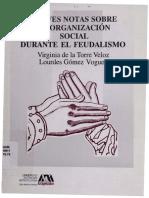 Breves Notas Sobre La Organizacion Social Feudal