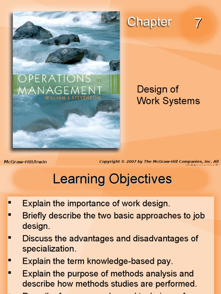 Operations Management Stevenson Chapter07 | Employment | Self-Improvement