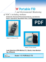 Model 115 Portable Flame Ionization Detector (FID) 0812