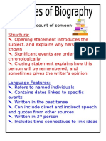 Features of Biography